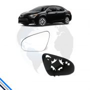 Lente Retrovisor Ext Esq Toyota Corolla 2014-2016