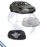Lente Retrovisor Externo Direito Honda Civic 2012-2016 - Gcomponentes