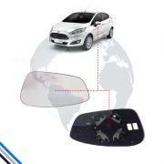Lente Retrovisor Externo Esquerdo Ford Fiesta 2011-2016 - Metagal