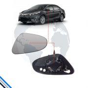 Lente Retrovisor Externo Esquerdo Toyota Corolla 2014-2016 - Smr