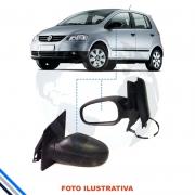 RETROVISOR EXTERNO ESQUERDO VW FOX 2010 EM DIANTE