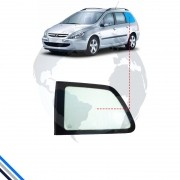 Vidro Janela Fixa Traseira Esquerda Peugeot 307 Wagon 2001-2012