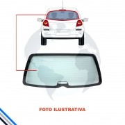 Vidro Vigia Ford Fiesta Hatch Amazon 02-14  LISO/ S/FURO