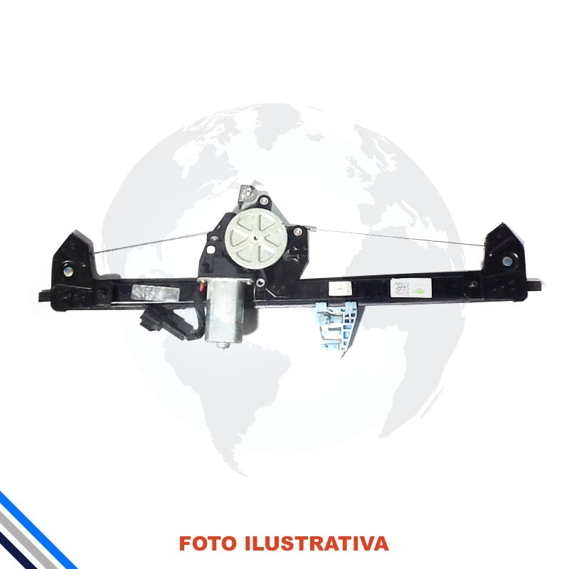 Maquina Vidro Pt Diant Esq Elet C/Mot Fiat Uno 2010-2016