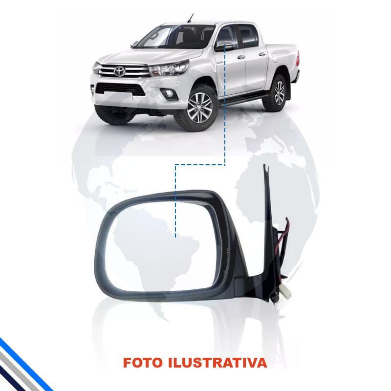 Retrovisor Externo Esquerdo Elet/cromado/pisca Toyota Hilux 2012-2016 - Original
