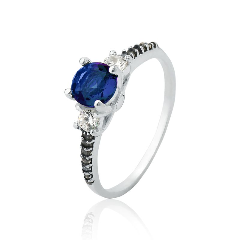 Anel Brilhante Azul