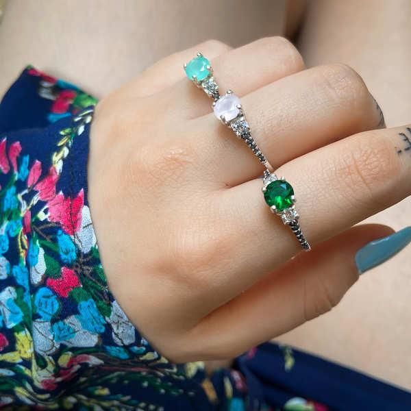 Anel Brilhante Verde