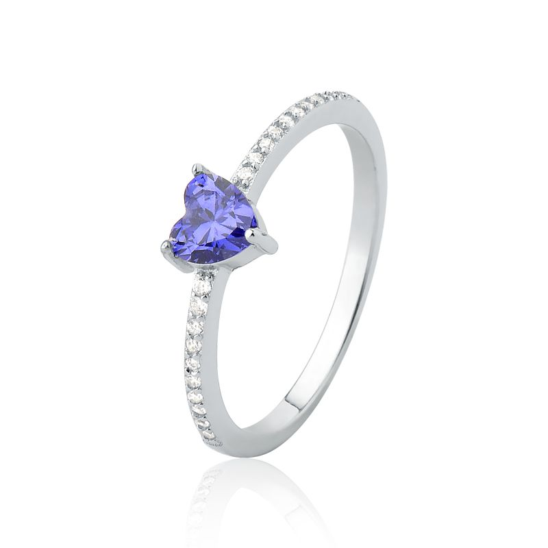 Anel Coração Encantado Púrpura G