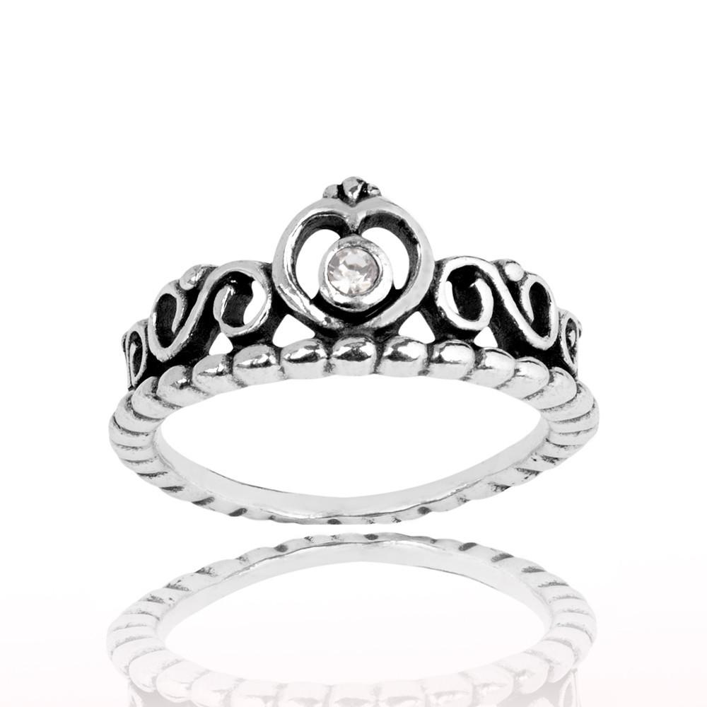Anel Coroa De Princesa
