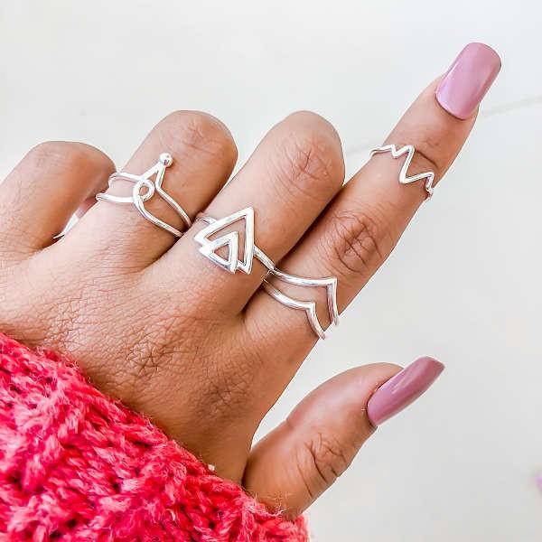 Anel Dois Triângulos