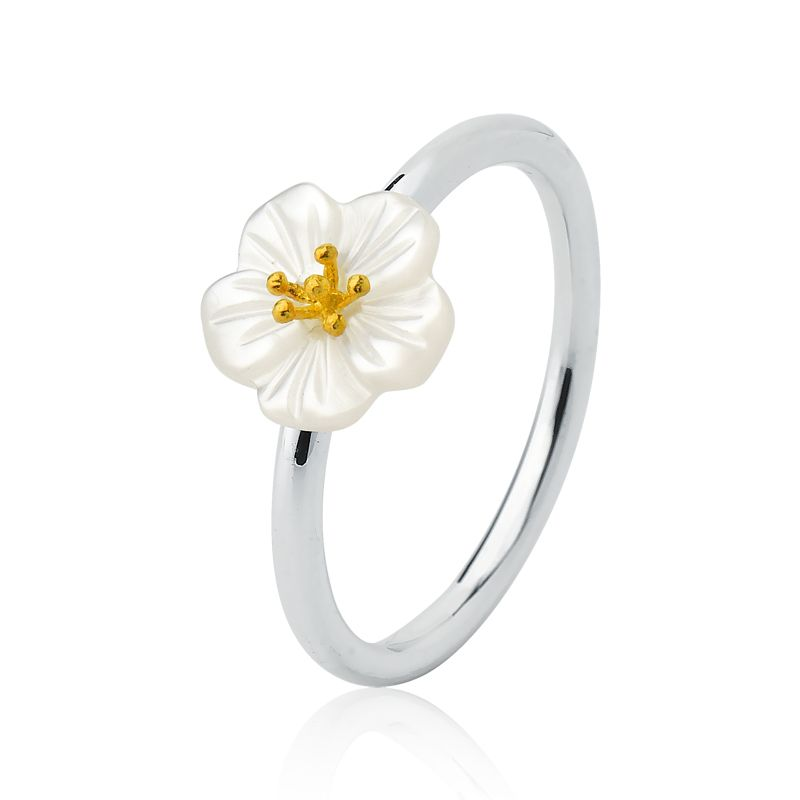Anel Flor Branca