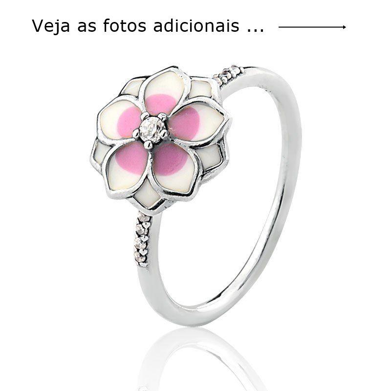 Anel Flor de Magnólia