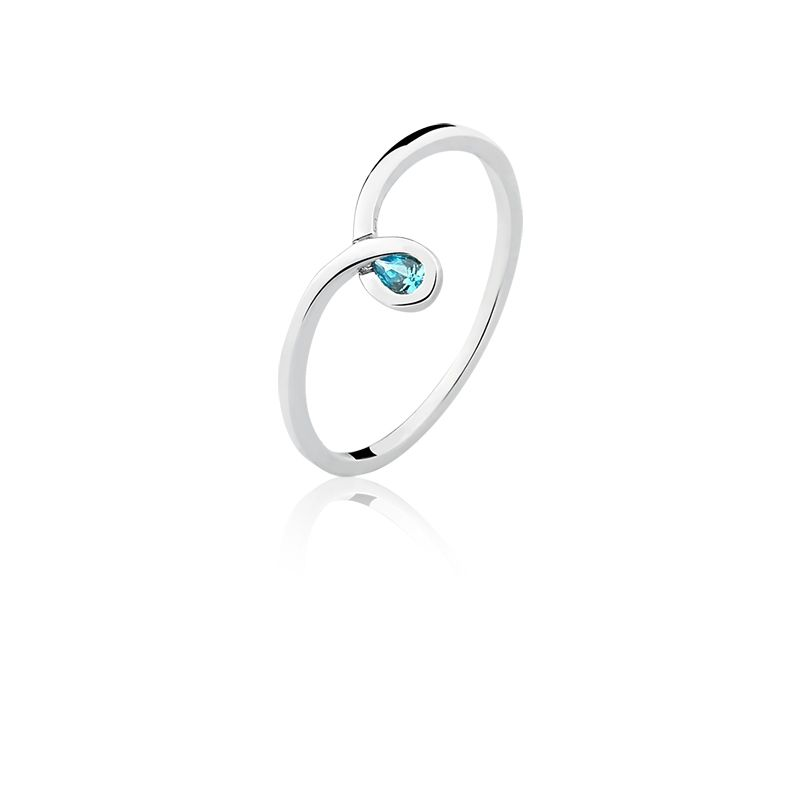 Anel Gota Azul