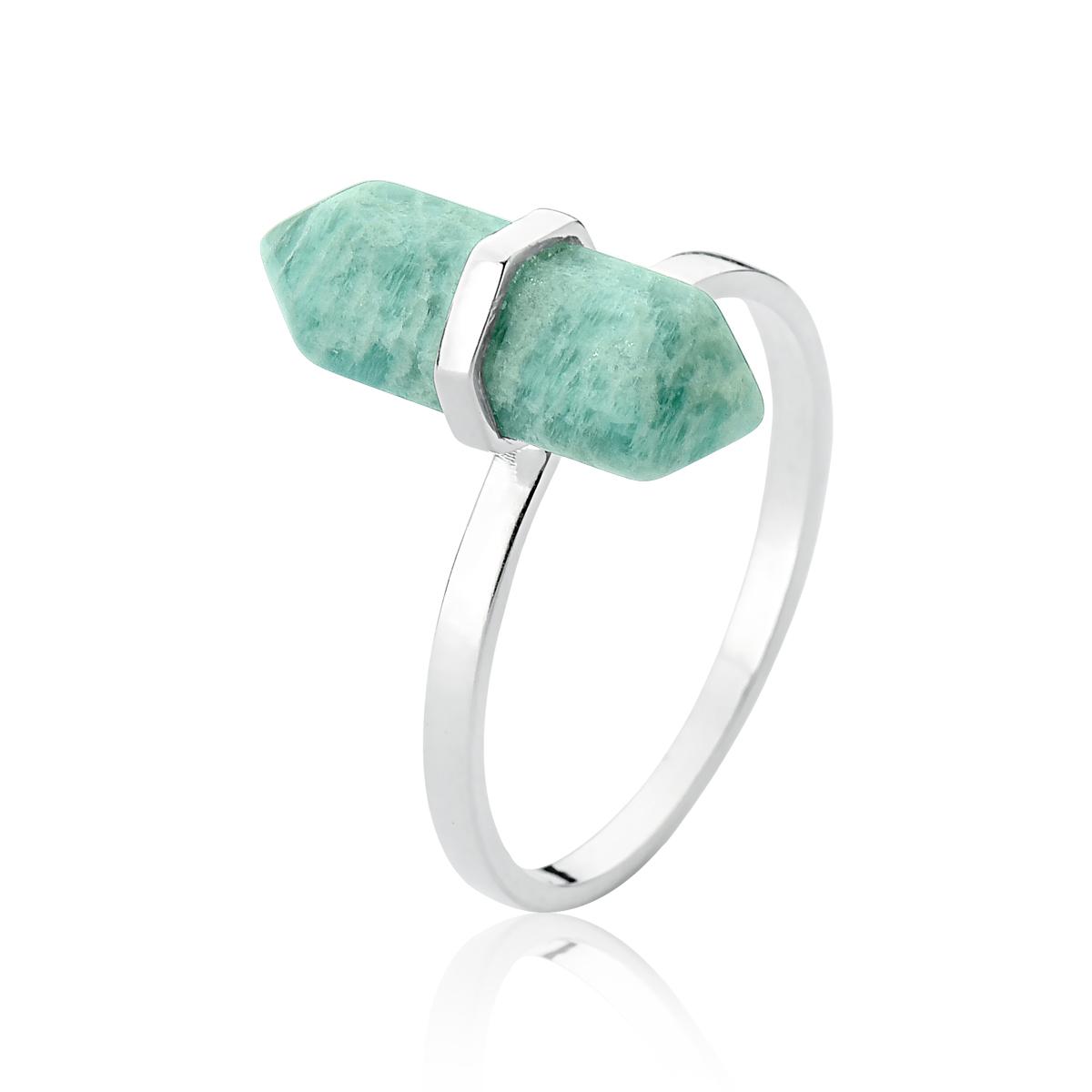 Anel Pedra Amazonita
