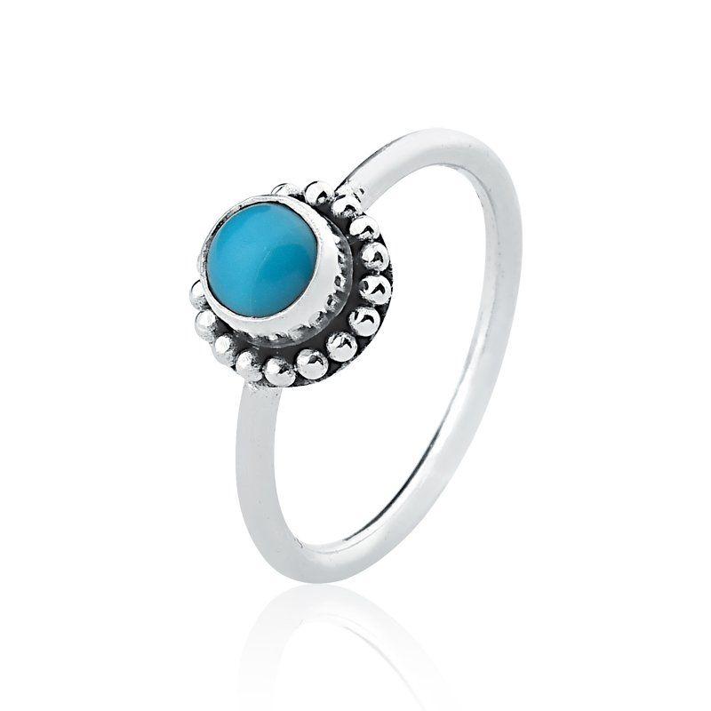Anel Round Azul