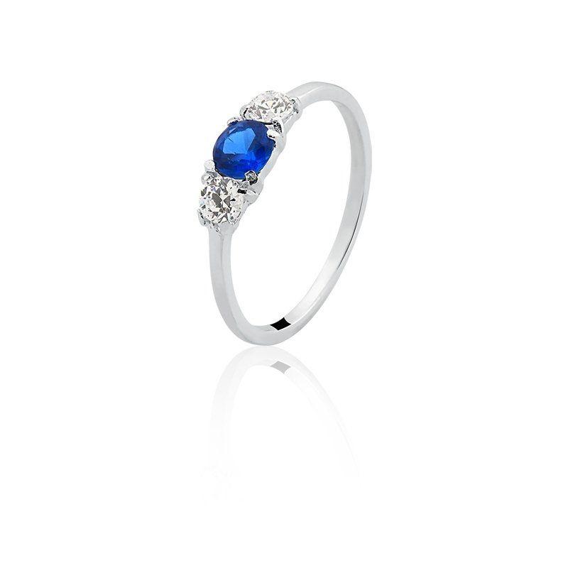 Anel Zircônia Azul