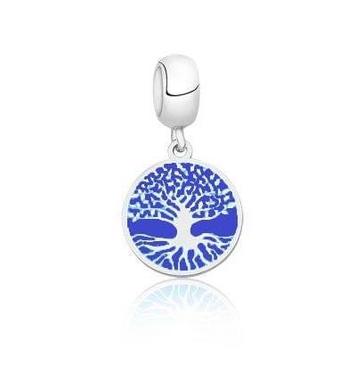 Berloque Árvore Da Vida Azul