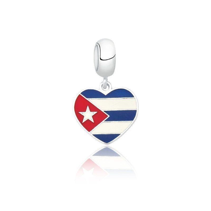 Berloque Bandeira Cuba