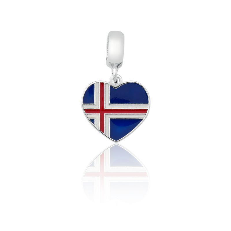 Berloque Bandeira Islândia
