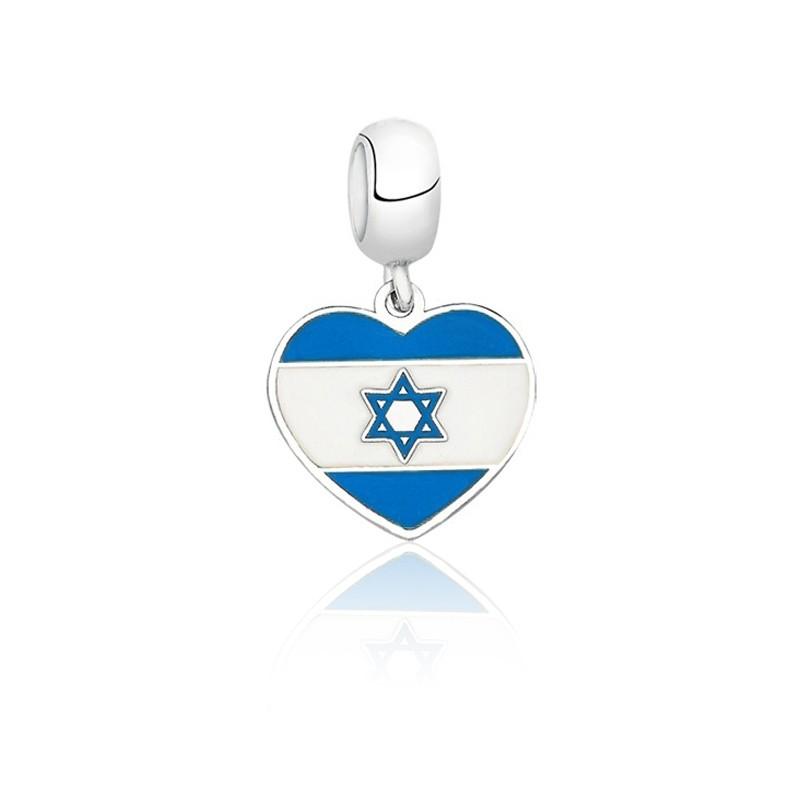 Berloque Bandeira Israel Azul Escuro