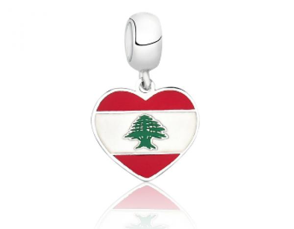 Berloque Bandeira Libano