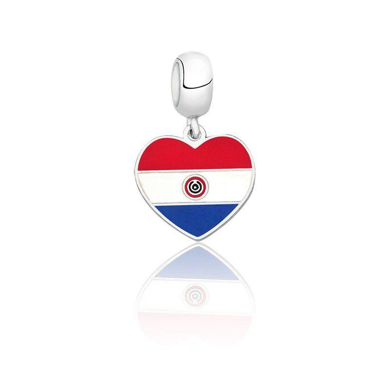 Berloque Bandeira Paraguai
