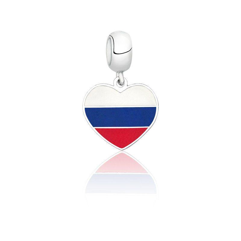 Berloque Bandeira Russia