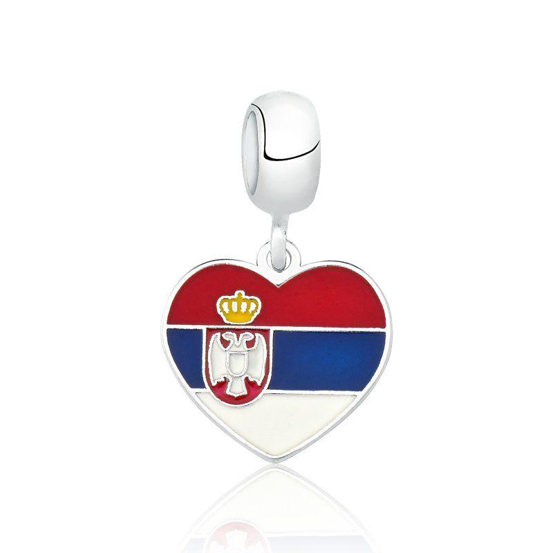 Berloque Bandeira Sérvia