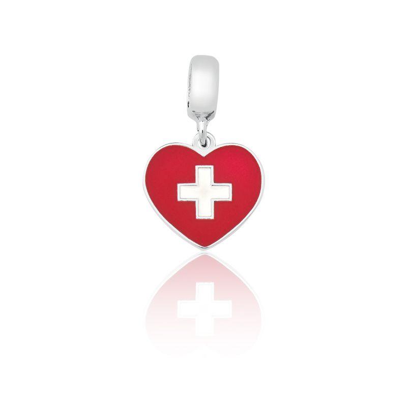 Berloque Bandeira Suiça