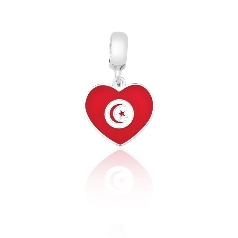 Berloque Bandeira Tunísia