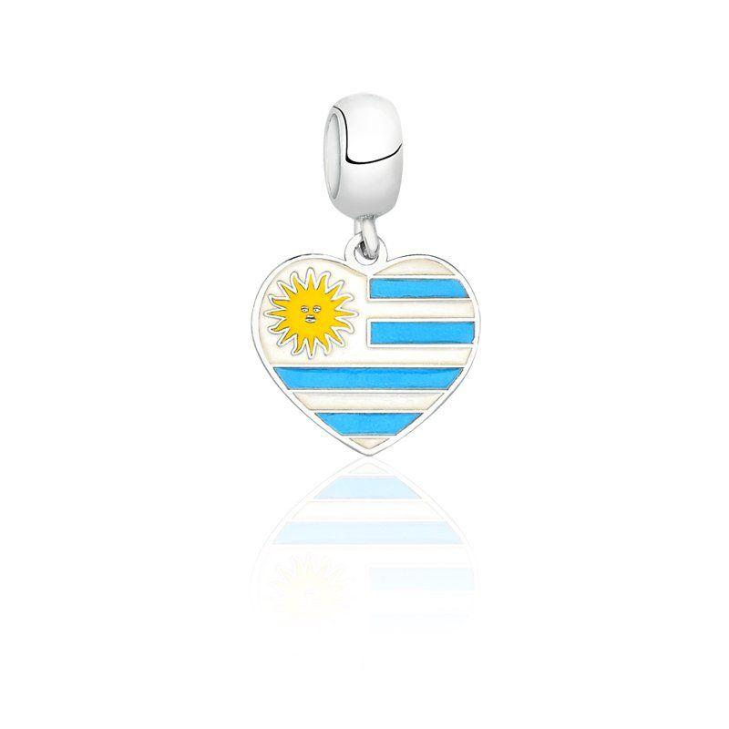 Berloque Bandeira Uruguai - Azul Escuro
