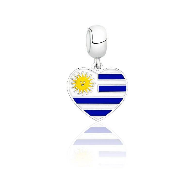 Berloque Bandeira Uruguai Escura
