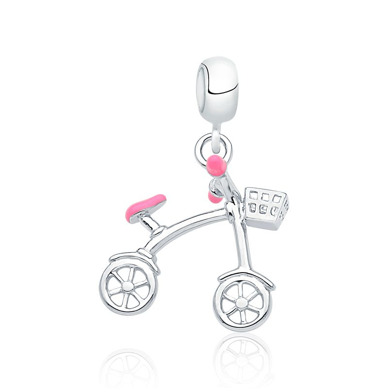 Berloque Bicicleta Rosa