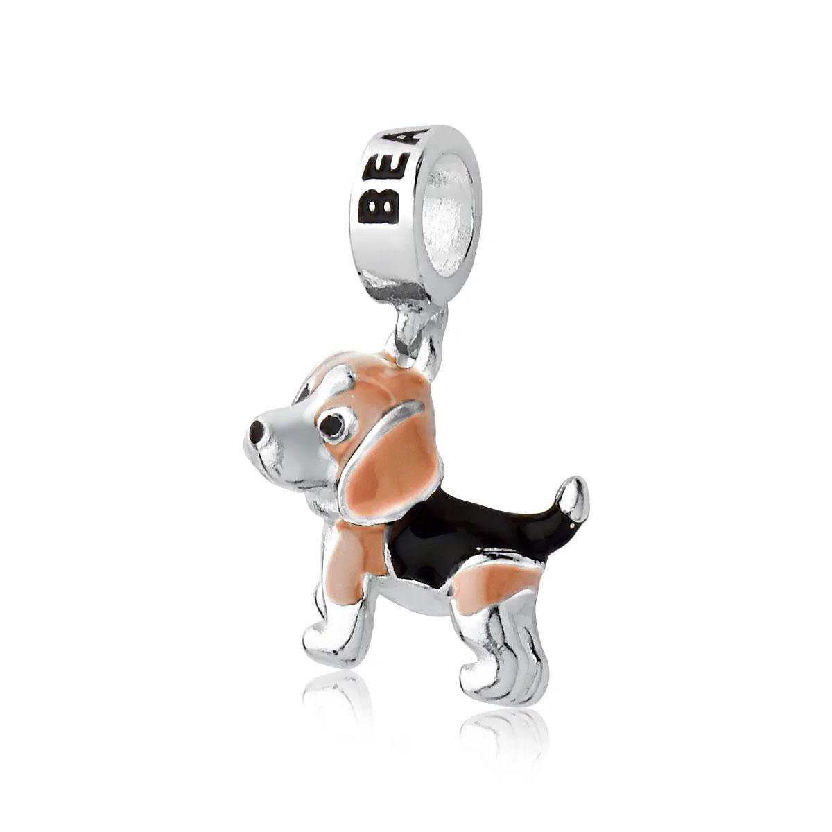Berloque Cachorrinho Beagle Claro