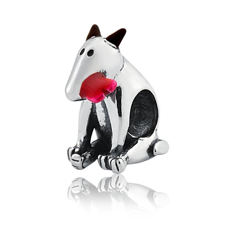 Berloque Cachorro Com Osso