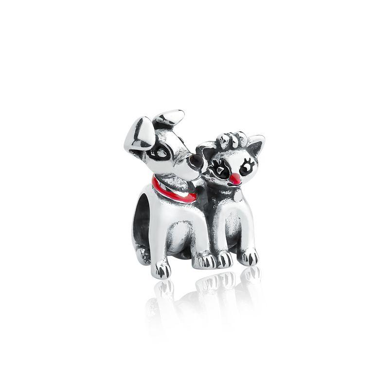 Berloque Separador Cachorro e Gata