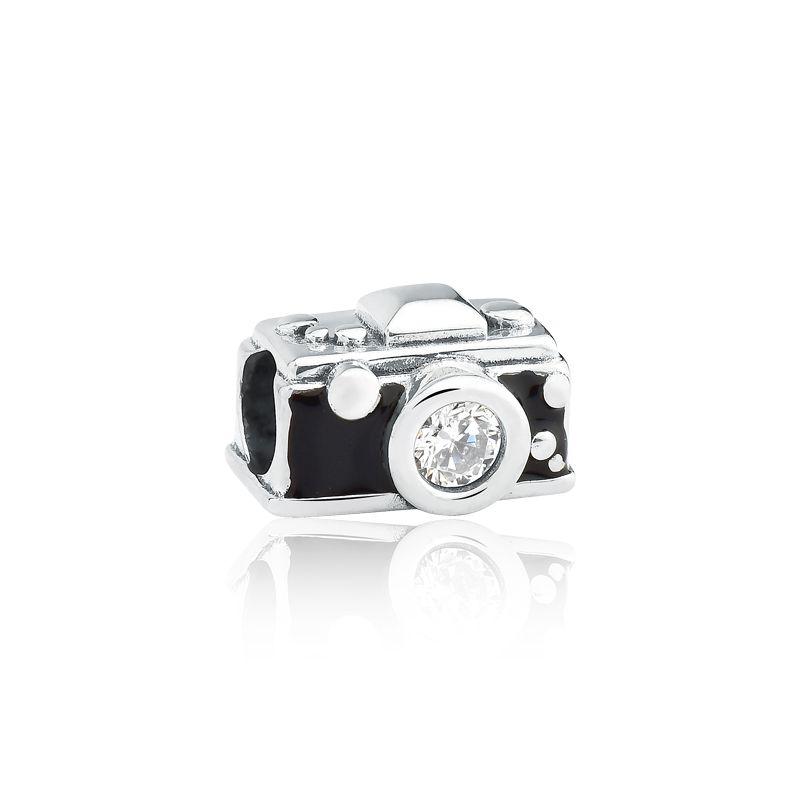 Berloque Câmera Fotográfica Zircônia