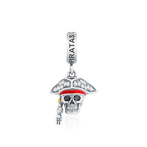 Berloque Caveira Pirata