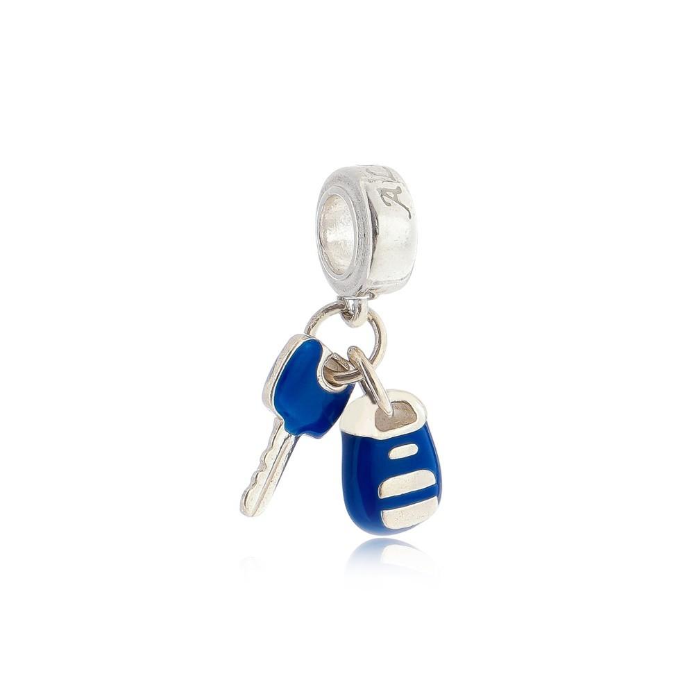 Berloque Chave De Carro Azul