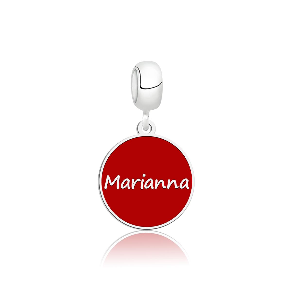 Berloque Círculo Vermelho Personalizado (Ler Descrição)