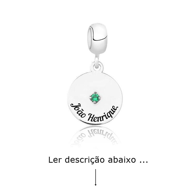 Berloque Círculo Zircônia Personalizado (Ler Descrição)