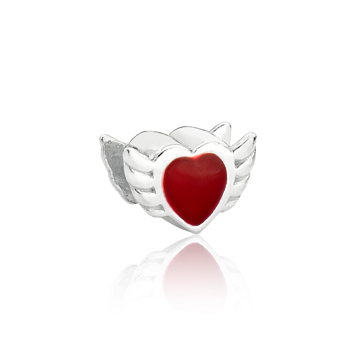 Berloque Coração Alado