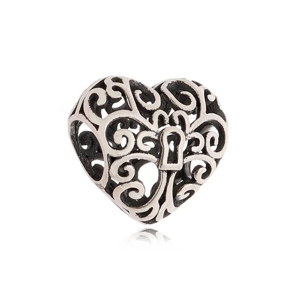 Berloque Coração Arabesco