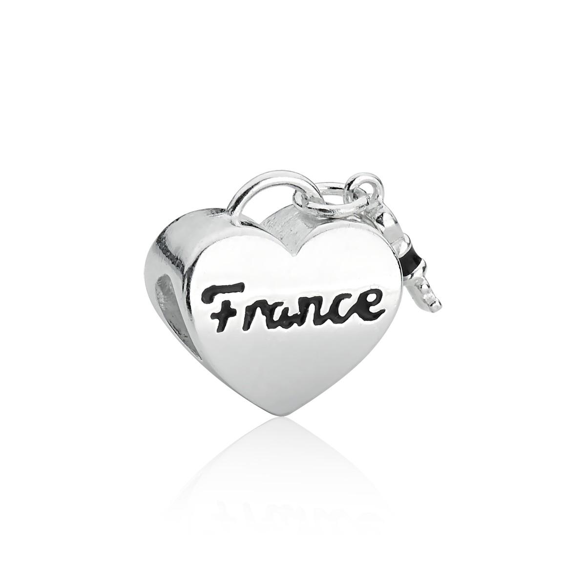Berloque Coração Bandeira França