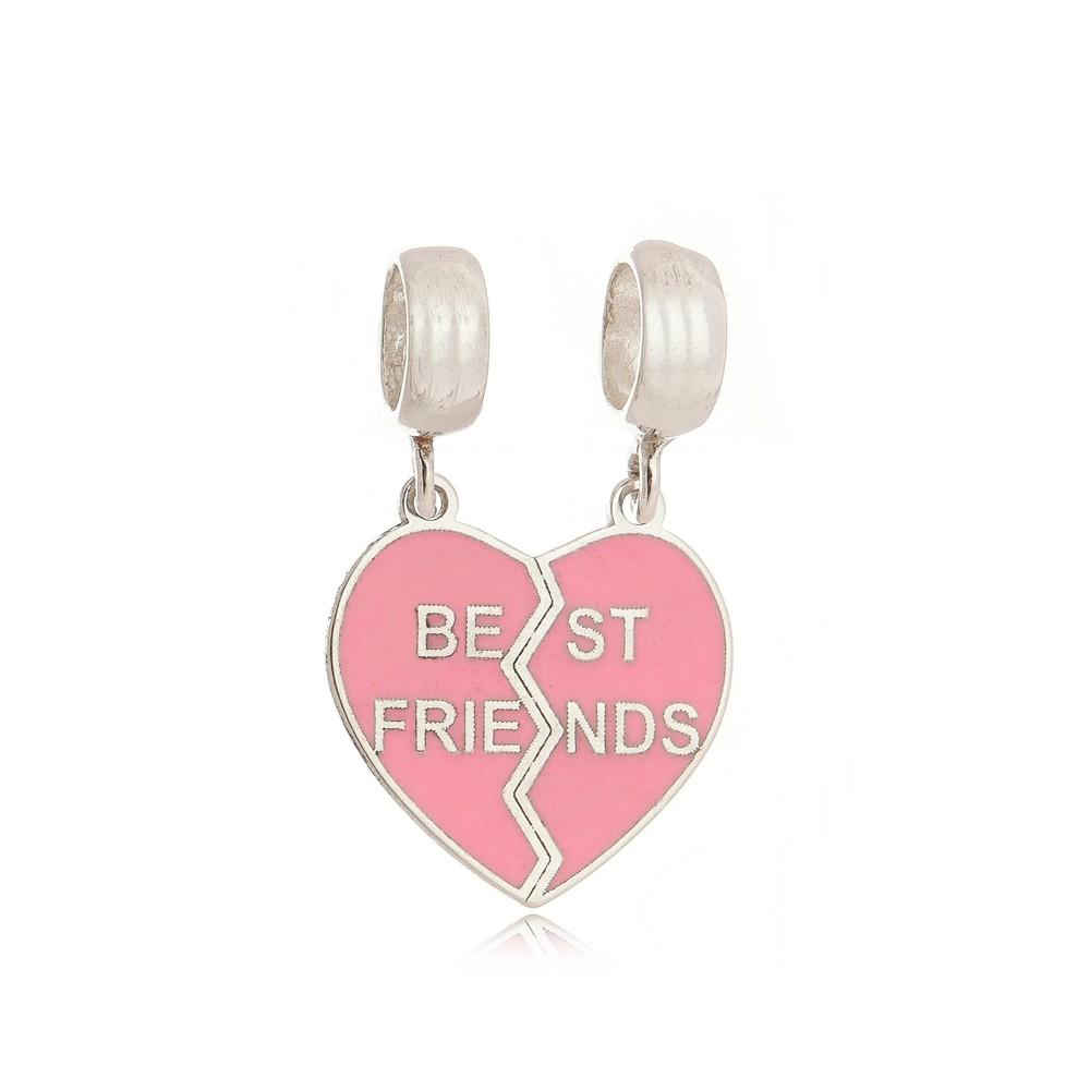 Berloque Coração Best Friends