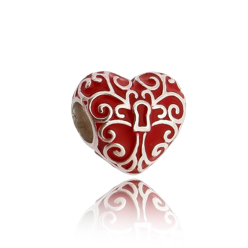 Berloque Coração Chave