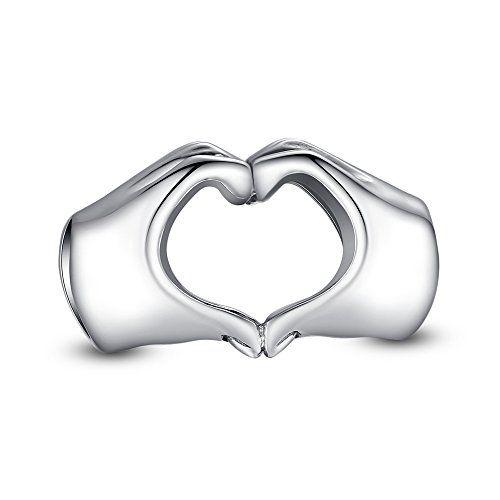 Berloque Coração Com As Mãos