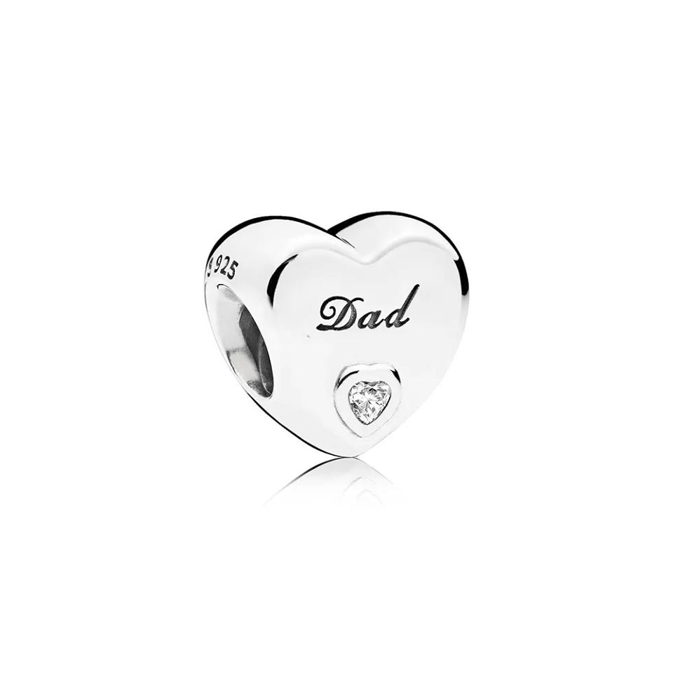 Berloque Coração com Zircônia Dad