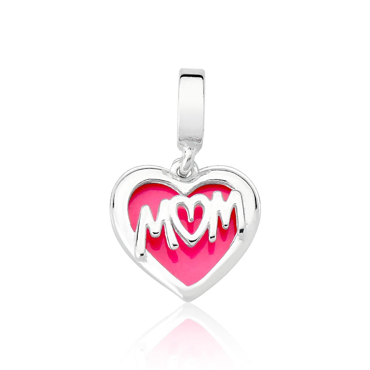 Berloque Coração Duplo Mom