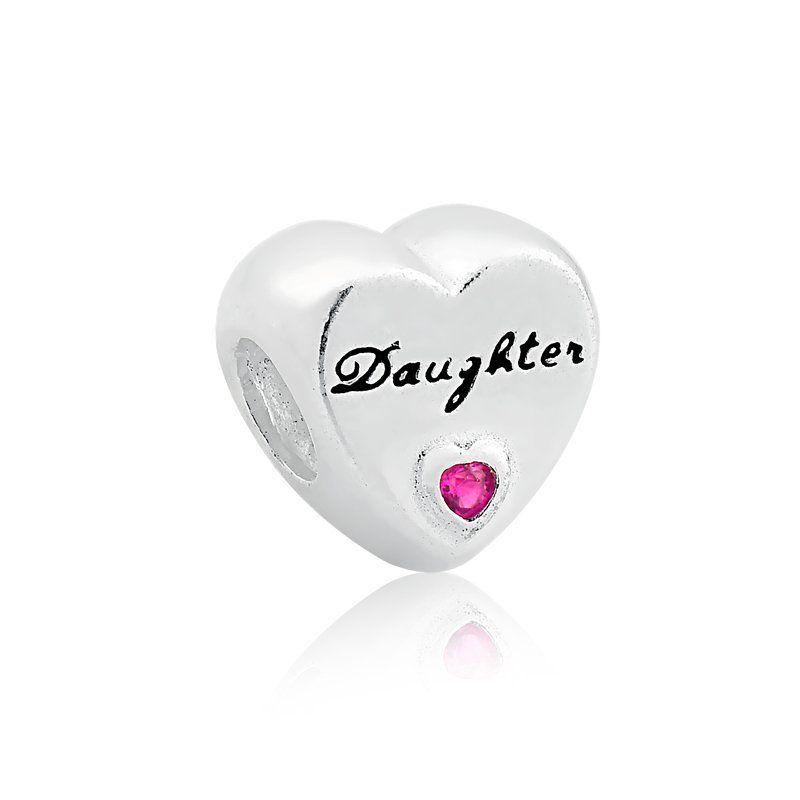 Berloque Coração Filha - Daugther